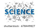 science line art vector... | Shutterstock .eps vector #678449827