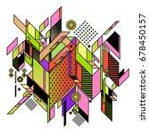 trendy geometrical vector... | Shutterstock .eps vector #678450157