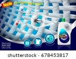 ad detergent display enlarged... | Shutterstock .eps vector #678453817