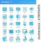 modern thin line icons set of...   Shutterstock .eps vector #678456493