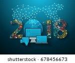 2018 new year business... | Shutterstock .eps vector #678456673