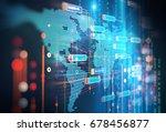 abstract  futuristic... | Shutterstock . vector #678456877
