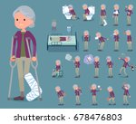 a set of old women with injury... | Shutterstock .eps vector #678476803