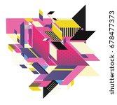 trendy geometrical vector... | Shutterstock .eps vector #678477373