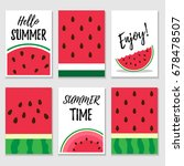 set of summer cards with... | Shutterstock .eps vector #678478507