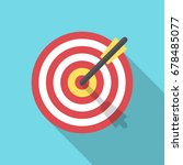 target with an arrow flat icon... | Shutterstock .eps vector #678485077