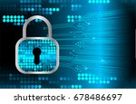 safety concept  closed padlock... | Shutterstock .eps vector #678486697