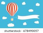 flying advertising banner. hot... | Shutterstock .eps vector #678490057
