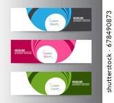abstract geometric vector web... | Shutterstock .eps vector #678490873