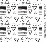 abstract pattern of black brush ... | Shutterstock . vector #678491197