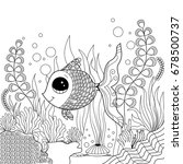 goldfish coloring page for... | Shutterstock .eps vector #678500737