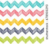 vector simple pattern with zag... | Shutterstock .eps vector #678503293