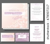 set of wedding cards or... | Shutterstock .eps vector #678507217
