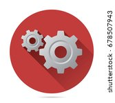 gears icon vector flat style... | Shutterstock .eps vector #678507943