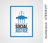 world day of social justice | Shutterstock .eps vector #678509197