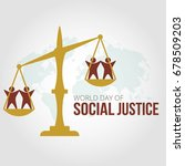 world day of social justice | Shutterstock .eps vector #678509203
