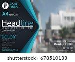 blue flyer cover business... | Shutterstock .eps vector #678510133