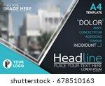 blue flyer cover business... | Shutterstock .eps vector #678510163