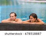 swimming pool wellness resort... | Shutterstock . vector #678518887