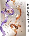 grand opening invitation card...   Shutterstock .eps vector #678521827