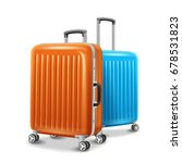 travel luggage elements  two... | Shutterstock .eps vector #678531823