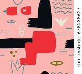 abstract modern art naked woman ... | Shutterstock .eps vector #678538627