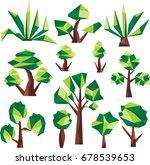 polygon tree clip art | Shutterstock .eps vector #678539653