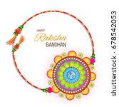 vector abstract for raksha... | Shutterstock .eps vector #678542053