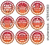 autumn sale banners | Shutterstock . vector #678545383