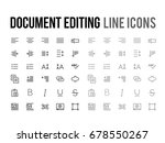 document text editing vector... | Shutterstock .eps vector #678550267
