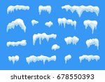 snow ice icicle set winter... | Shutterstock .eps vector #678550393