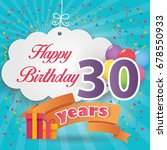 30 th birthday celebration... | Shutterstock .eps vector #678550933