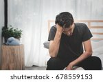 stressed and sad handsome man...   Shutterstock . vector #678559153