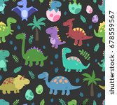 seamless vector pattern with... | Shutterstock .eps vector #678559567