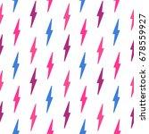 seamless pattern with lightning ... | Shutterstock .eps vector #678559927