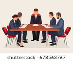 business people meeting in... | Shutterstock .eps vector #678563767