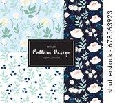 pattern flower | Shutterstock .eps vector #678563923