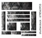 a set design of abstract modern ... | Shutterstock .eps vector #678563953