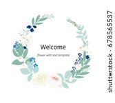 welcome word hand drawn with... | Shutterstock .eps vector #678565537