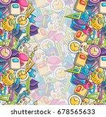 school elements clip art doodle ... | Shutterstock .eps vector #678565633
