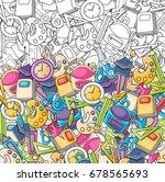 school elements clip art doodle ... | Shutterstock .eps vector #678565693