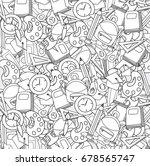 school elements clip art doodle ... | Shutterstock .eps vector #678565747