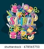 school elements clip art doodle ... | Shutterstock .eps vector #678565753
