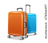travel luggage elements  two... | Shutterstock . vector #678566497