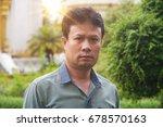 asian men in outdoor with... | Shutterstock . vector #678570163