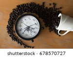 Coffee Beans Of Cupand Alarm...