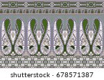 traditional seamless indian... | Shutterstock . vector #678571387