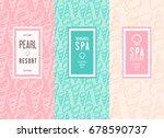 spa salon logo design. vector... | Shutterstock .eps vector #678590737