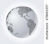 world globe with binary code ... | Shutterstock .eps vector #678601357