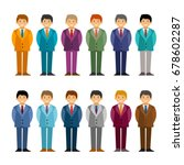 cartoon caucasian men in... | Shutterstock .eps vector #678602287